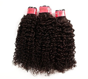 LANDOT Unprocessed 7A Brazilian Kinky Curly Virgin Hair 3Pc/lot Brazilian Deep Curly Human Hair Weaves Bundles Natural Black Extensions