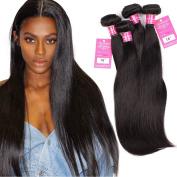 Stephanie Hair Products 7A Brazilian Virgin Hair Straight 100% Unprocessed Virgin Human Hair Weave Bundles Natural Black Colour 4pcs (100+/-5g)/pc