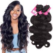 Stephanie Hair 7A Brazilian human hair Extensions weave bundles brazilian virgin Hair Body Wave Bundles Natural Black Colour 100% Human Hair Weaving 4pcs (100+/-5g)/pc