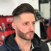SinoArt Men's Hairpiece Human Hair Toupee Wig Super Thin Skin Hair Replacement