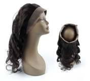 Landot 8A Virgin Hair 360 Lace Frontal Closure Brazilian Remy Body Wave Human Hair( 22.25 X 4 X 2), Healthy Weave with Adjustable Strap & Bleached Knot