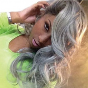 Ten Chopstics 130 Density Grey Human Hair Wigs with Baby Hair Side Part Fashion Grey Body Wave Full Lace Human Hair Wigs Bleached Knots Glueless Lace Front Wigs Brazilian Virgin Hair No Tangle