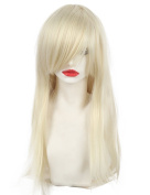 Women's Daily wear Cosplay Blonde Hair Wig Long Straight Costume Party Full Wigs