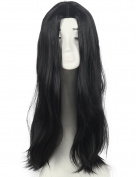 Fashion Black Long straight women's Girl full Hair cosplay Wig
