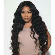Unprocessed 100% Brazilian Virgin Hair Body Wave Lace Front Human Hair Wigs-Glueless with Baby Hair for Black Women