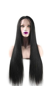New Change Lace Front Synthetic Wig Light Yaki Straight 250%Density Fashion Long Natural Straight 10%Human Hair+90%Heat Resistant Fibre Glueless For Women