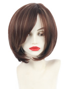 Crescent shaped Straight Bob hair wigs for fashion women