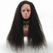 RIJIA Long Curly Glueless Lace Front Wigs for Black Women Natural Hairline Curly Human Hair Wigs 130%-180%Density In Stock Natural Colour