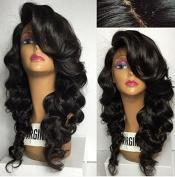 QIRUI HAIR Silk Top Lace Front Human Hair Wigs Glueless Body Wave Brazilian Virgin Hair 130% Density 10cm x 10cm Silk Base Lace Wigs for Black Women with Baby Hair