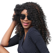 Alan Hair Long 60cm Natural Black Colour Kinky Curly Hair Wigs- Beautiful Synthetic Curly Wig for Women