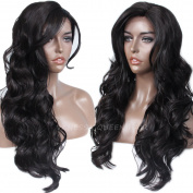 Vanessa Queen New Body Wave Free Part Hair Wigs Heat Resistant Fibre Hair Wavy Synthetic Lace Front Wig 60cm