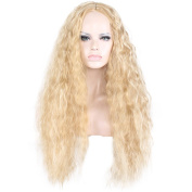 COSIN 60cm Long Curly Full Wigs for Black Women Costume Party Wigs with Wig Cap