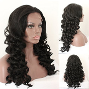 Oxeely-z synthetic lace front wig curly wig african american baby hair natural looking curly wig for african american