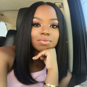Oxeely Short Bob Synthetic Bob Lace Front Wig with Baby Hair Heat Reasistant Wig for Black Women 41cm
