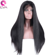 EVA HAIR 180% 250% Density Straight 360 Lace Frontal Wig Pre Plucked With Baby Hair Natural Hairline Brazilian Remy Hair Wigs 25cm - 60cm