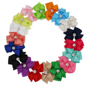 XIMA 18pcs 13cm Big Hair Bows With Alligator Clips For Girls and Women bows Clips Rhinestone Bows Diamond Bows for Kids