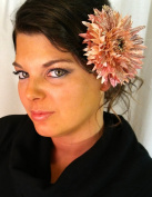 Vintage Pin-Up Pink Daisy Hair Flower Clip