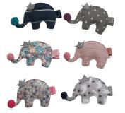 Mondada 6PCS Cute Animal Ehephant Baby Girls Hair Clips Hairpins Barrette Clip