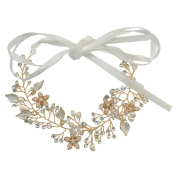 idealway Lace Flowers Crystal Pearl Beads Hairpin Hair Clip For Women
