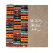 Hair Elastics Bands Have No Knot's, No Crease, No Damage, Sewn Aztec Print Ponytail Holder Bracelet for Girls and Guys by Native Band Co.