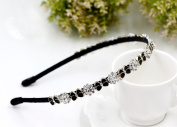 1PCS Hair Hoop Band Headband Headdress with Rhinestones Bow Tie Hair Accessories for Women Girl Best Xmas Gift for Party Daily Wear