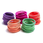 Munax Thread Elastic Hair Ties Hair Band No Crease Ouchless Ponytail Holders, assorted colours, 100 pcs