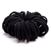 Munax Elastic Hair Ties Hair Ties Bands Rope No Crease Elastic Fabric Large Cotton Stretch Ouchless Ponytail Holders, 50 pcs
