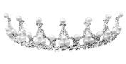 Girl's Princess Crystal Tiara Crown for Weddings Bridal, One Piece