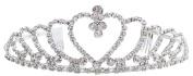Women's Bridal Rhinestone Crystal Tiara Crown Headband for Weddings & Proms