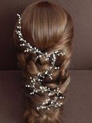 Venusvi Crystals Bridal Wedding Headband, Hair Vine and Headpiece