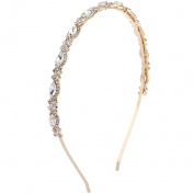 Lux Accessories Bridal Occasion Crystal Rhinestone Statement Tiara Headband