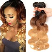 Brazilian Hair 4 Bundles,Black Rose Brazilian Virgin Body Wave 25cm 30cm 36cm 41cm Ombre 1b/4/27# Human Hair Virgin Body Wave Hair Weave Grade 7A
