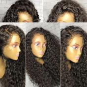 Warma Hair Kinky Culry Full Lace Human Hair Wig Natural Colour Brazilian Virgin Hair Lace Front Wig For Black Women