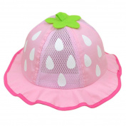 FEITONG(TM) New Baby Unisex Baseball Cap Mesh Sunhat Strawberry Raindrop Shaped Hat