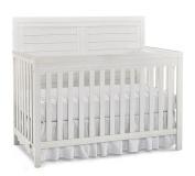 Ti Amo Castello 4 in 1 Convertible Crib, Wire Brushed Seashell