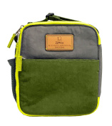 TWELVElittle Courage Lunch Bag, Grey/Olive
