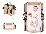 3 in 1 Travel Bassinet | Nappy Bag | Portable Change |Travel Crib | Stroller Handles | Mulitfunctional Portable Carry Cot | Nappy bag (Colour