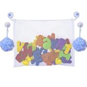 Baby Bath Tub Toys Mesh Bag Bathroom Toys Storage Organiser with 4 Suction Cups