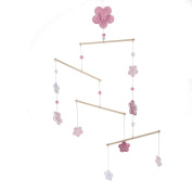 Midwest-CBK Flowers and Butterfies Nursery Mobile, Pink