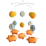 Beautiful Baby Room Decor, Cute Hanging Toy, [Piggy Bank] Crib Mobile