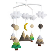 Creative Hanging Toys, [Primary Forest, At Night] Wind-up Musical Box