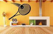 Wall Vinyl Sticker Decals Mural Room Design Decor Art Sport Tennis Tournament Racket Ball Hobby mi708