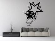 Wall Vinyl Sticker Decals Mural Room Design Decor Art Pattern Star Abstract Modern Ornament mi684