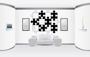 Wall Vinyl Sticker Decals Mural Room Design Decor Art Pattern Puzzle Abstract Modern Ornament mi650