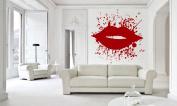Wall Vinyl Sticker Decals Mural Room Design Decor Art Pattern Lips Kiss Abstract Modern Ornament mi633