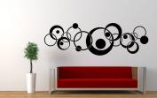 Wall Vinyl Sticker Decals Mural Room Design Decor Art Pattern Circle Rounds Modern Ornament mi627