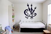 Wall Vinyl Sticker Decals Mural Room Design Decor Art Pattern Paint Palette Brush Artist mi626