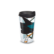 """Tervis 2807380cm NHL San Sharks Colossal"""" Tumbler with Black Lid, Wrap, 470ml, Clear"""