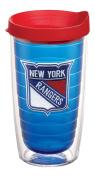 "Tervis 2762140cm NHL New York Rangers"" Tumbler with Red Lid, Emblem, 470ml, Sapphire"