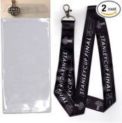 STANLEY CUP FINAL 2017 / LANYARD WITH TICKET HOLDER & COLLECTIBLE PIN SET OF TWO (2) SHIPS NOW!